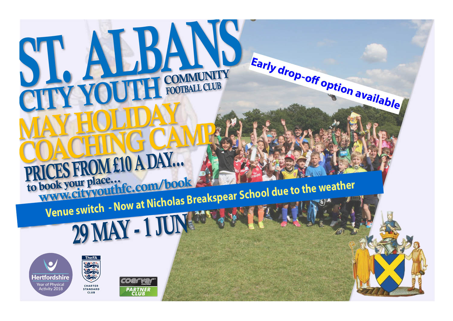 St Albans City Youth FCMay 18 Coaching Camp web1